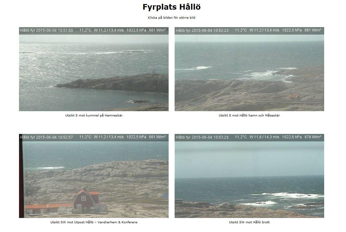 Webbkamera i Hållö Fyr